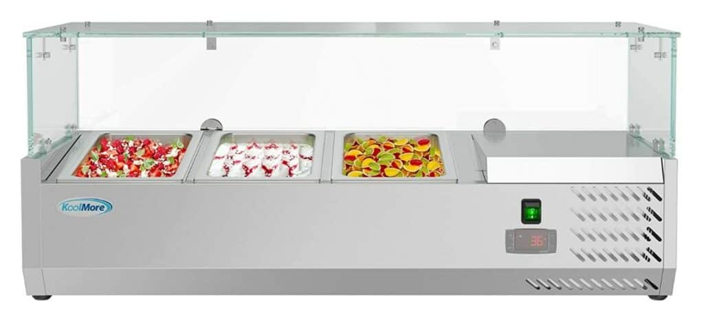 KoolMore Refrigerated Countertop Pizza Prep Station