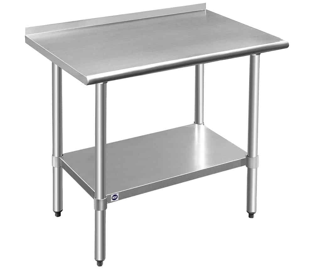 Rockpoint Stainless Steel Prep Table - Our #1 Top Budget Buy