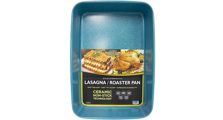casaWare Ultimate Series Commercial Weight Ceramic Coated Non-Stick Lasagna Pan