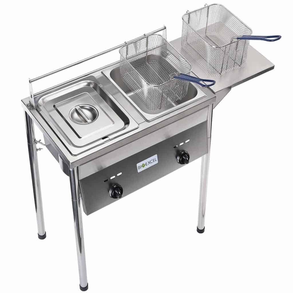 Bioexcel Two-Tank Outdoor Deep Fryer