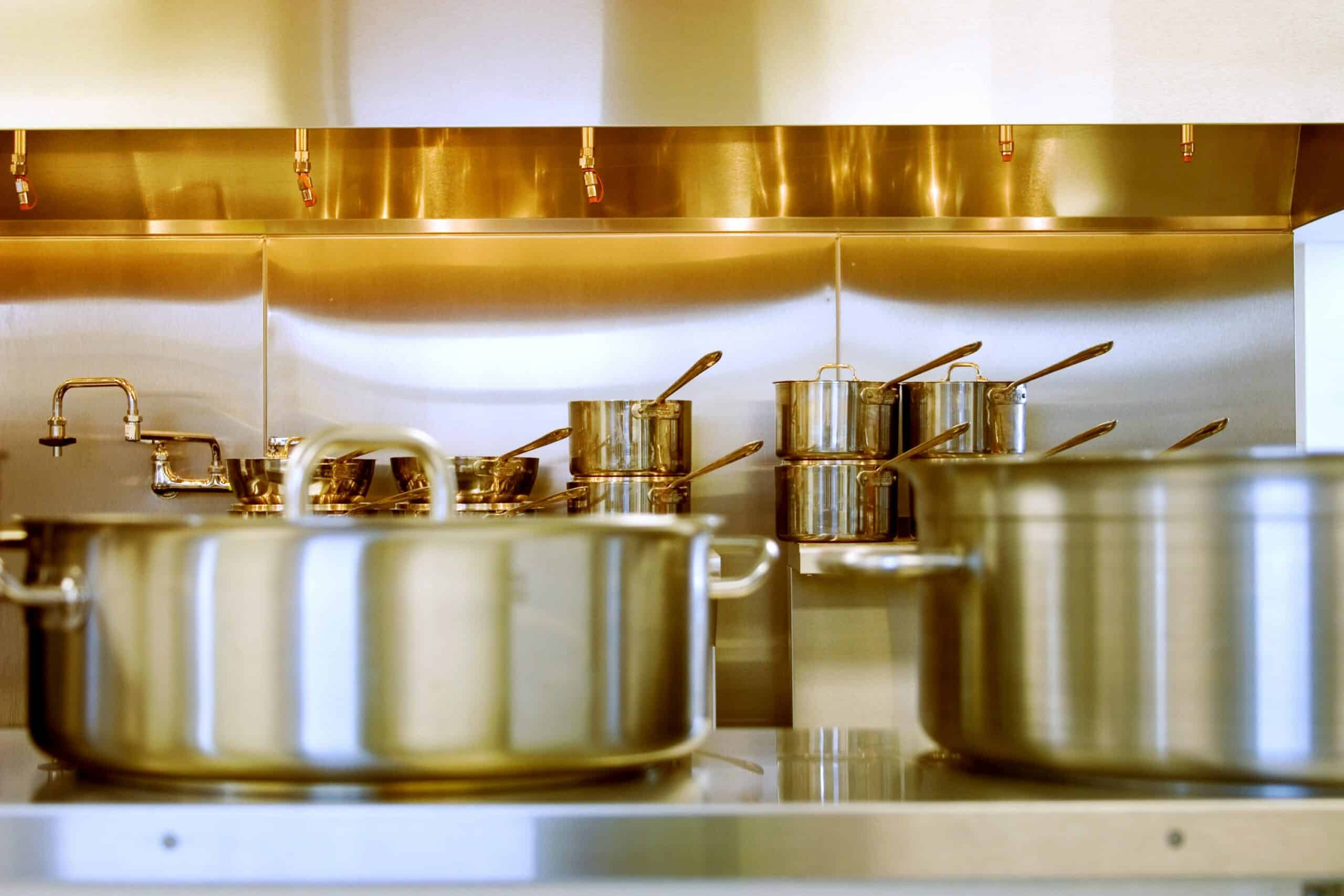 Commercial pots and pans
