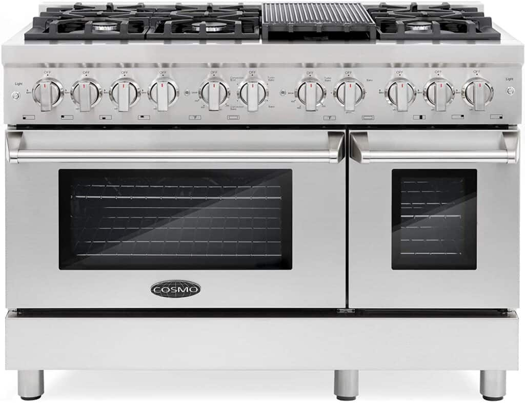 Cosmo DFR486G Commercial Stove with Cast Iron Grate