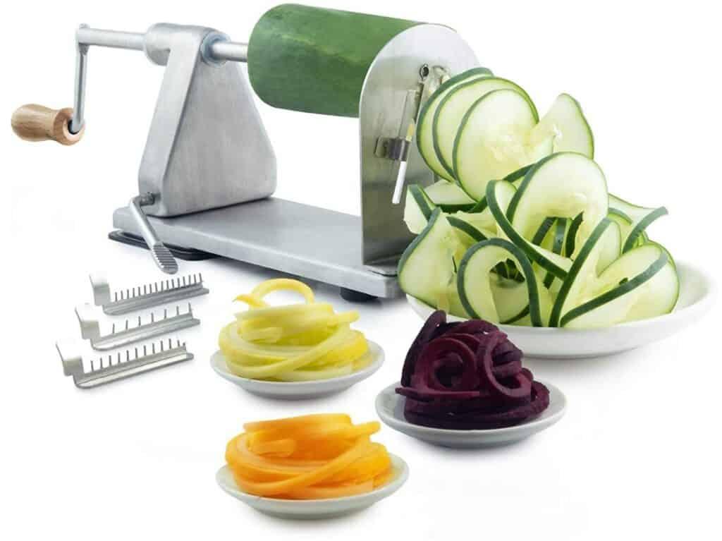 POP Design Commercial Grade Vegetable Spiralizer and Potato Cutter
