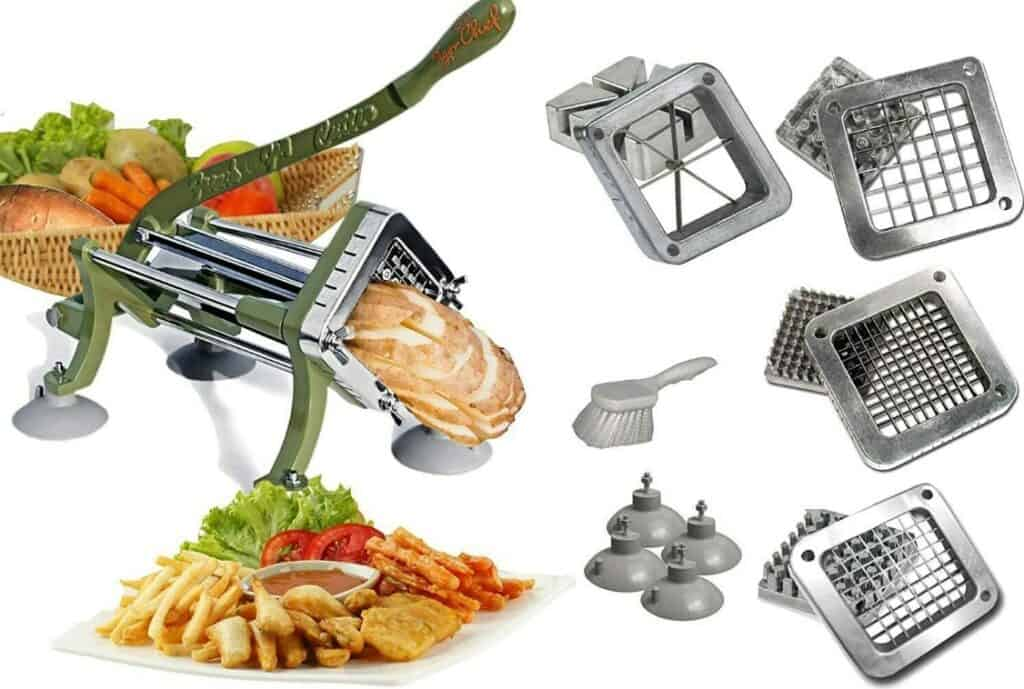 Tiger Chef 14-piece Commercial Grade Heavy Duty French Fry Cutter