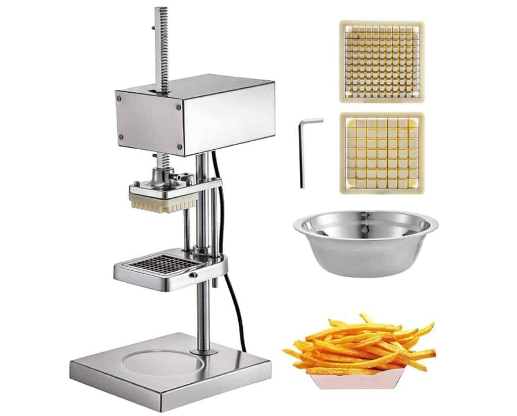 VBENLEM Vertical Electric Fry Cutter With Replaceable Blades