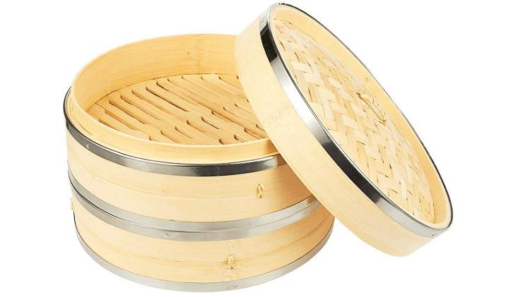 Juvale Bamboo Steamer Basket