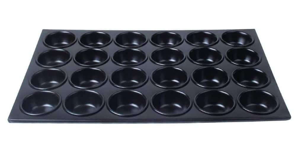 Vogue Aluminium Non-Stick Muffin Tray 24 Cup