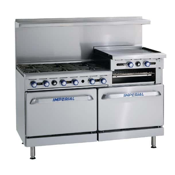 Imperial 6 Burner and Griddle Gas Oven Range IR6RG24
