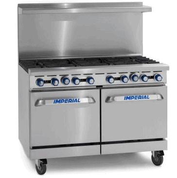 Imperial 8 Burner Gas Oven Range IR8