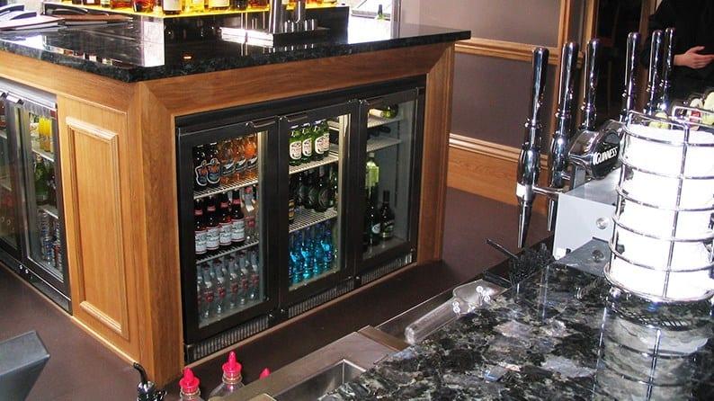 Under-counter refrigerator-freezers